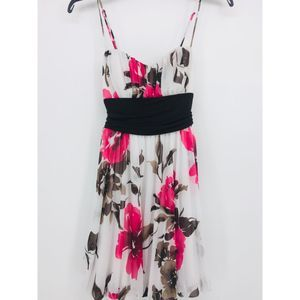 Speechless Floral Print Dress Size S White/Pink